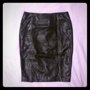 NWOT Victoria Secret 100% Genuine Leather Skirt